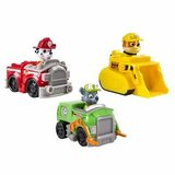 Paw Patrol rescue racers, 3 pack - Marshall, Rubble en Rocky