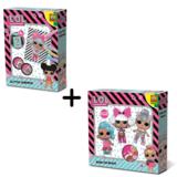 LOL Surprise strijkkralen en glitterkaarten - dubbel pakket_