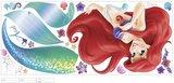 Disney Prinzessinnen Wandaufkleber - RoomMates - Debütantenbal mit Glitzerelementen_