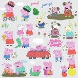 Peppa Pig muurstickers - RoomMates