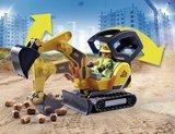 Playmobil City Action - Mini graafmachine met bouwonderdeel - 70443