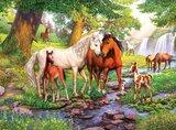 Ravensburger puzzel - Wilde Paarden Bij De Rivier - 300 stukjes XXL