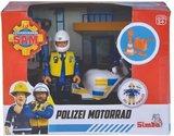 Brandweerman Sam Politiemotor incl. Figuur