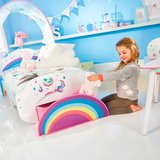 Peuter hemelbed met Unicorn en opslagruimte onder het bed