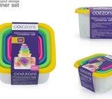 Cozzoni - 5-in-1 - Vierkante - Vershoudbakjes - voedselopslag containerset