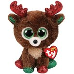 Ty Beanie Boo's Fudge Reindeer, 15 cm