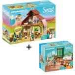Spirit - Playmobil - Schuur met Lucky, Pru en Abigail + Lucky's slaapkamer