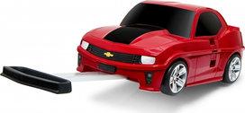 Kindertrolley koffer - Chevorlet Camaro - rood