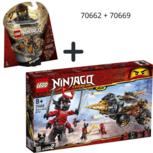 LEGO NINJAGO Legacy Cole's Grondboor + Spinjitzu Cole - 70662 +70669