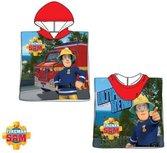 Brandweerman Sam poncho - rood