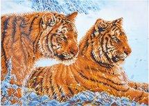 Diamond Dotz® Tigers in the Snow - Diamond Painting