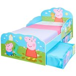 Peppa Pig - peuterbed met opslagruimte onder het bed