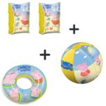 Peppa Pig zwempakket - zwemvleugels, strandbal en zwemring