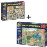 Jan van Haasteren - 2 puzzels - Veemarkt + Kunstmarkt -  1000  en 2000 stukjes