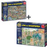 Jan van Haasteren - 2 puzzels - Drogisterij + Kunstmarkt -  1000  en 2000 stukjes