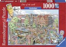 Fleroux - Amsterdam, cities of the world - 1000 stukjes