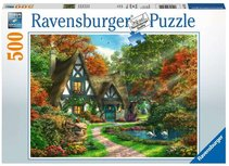 Ravensburger puzzel - Cottage in de herfst - 500 stukjes