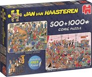 Jan van Haasteren - Let's party  2 in 1 - Puzzel 500/1000 Stukjes
