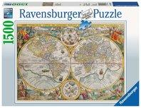 Ravensburger puzzel - Wereldkaart 1594  - 1500 stukjes