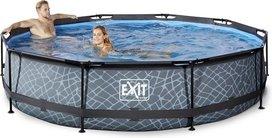 EXIT Stone zwembad  met filterpomp - grijs