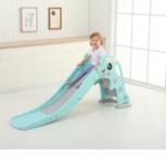 Kinder glijbaan Dolfijn - afgeronde hoeken voor binnen en buiten - turquoise/grijs