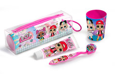 LOL Surprise toilettasje - incl tandenborstel - tandpasta - beker