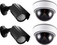 Alecto DC-KIT Dummy Camera diefstal preventie set - Met 2 Dome, 2 buiten camera's en sticker