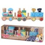 Woezel en Pip houten trein