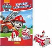 Boek Paw Patrol - De snelste brandweerpup + bouwplaat