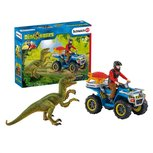 Schleich  Dinosaurs - Vlucht van velociraptor op quad Schleich - 41466
