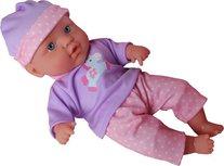 My Little Baby -  Babypop Met 4 Geluiden - paars -41 cm