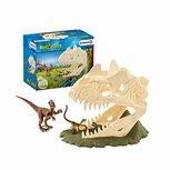 Schleich  Dinosaurs - Grote schedelvalstrik met Velociraptor - 42348