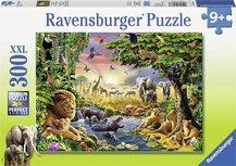 Ravensburger puzzel - Avondzon bij de drinkplaats - 300 stukjes XXL