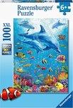 Ravensburger puzzel - Bijeenkomst van de dolfijnen - 100 stukjes XXL