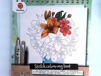 Deco Time - kleurboek voor volwassenen - Bloemen