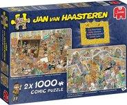 Jan van Haasteren -Een dagje naar het Museum - Puzzel 2 x 1000 Stukjes