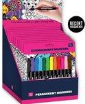 Stiften voor glitterkleurboeken - 12 stiften