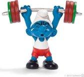 Schleich Smurfen - Olympische team Gewichtheffer 2012- limited edition - 40267