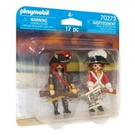 Playmobil Pirates - Duo Packs Pirate Captain and Red Rock Soldier - 70273