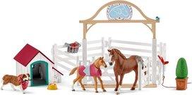 Schleich Horse club - Hanna's Paardengastenverblijf met hondenhok en hond - 42458