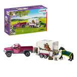 Schleich - Horse club - Pickup met paardentrailer - 42346