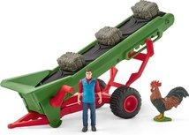 Schleich Farm world - Hay conveyor with farmer - 42377