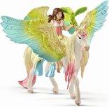 Schleich Bayala -  Elf Surah met glitter Pegasus - 70566