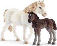 Schleich - Farm world - Pony en veulen 42423