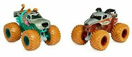 Monster Jam 1:64 Die Cast - 2-pack Color change - Monster Mutt & Scooby Doo