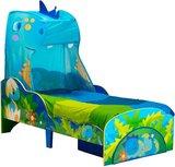 Himmelbett für Kleinkinder Happy Dino und Stauraum unter dem Bett