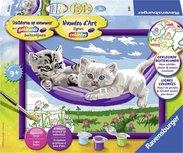 Schilderen op Nummer - Kittens in de hangmat