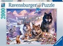 Ravensburger puzzel - Wolven in de sneeuw - 2000 stukjes