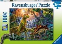 Ravensburger puzzel - Oase van dinosauriërs  - 100 stukjes XXL