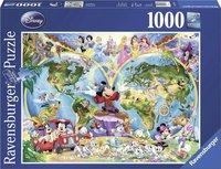 Ravensburger puzzel - Disney's Wereldkaart  - 1000 stukjes